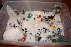 January sensory table
