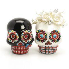 Skull Wedding Cake Topper A00160