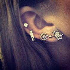 Multiple Ear piercings!