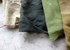 red onion skin dye on cotton and silk by lilfishstudios, via Flickr