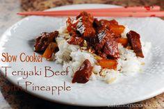 3 Ingredient Slow Cooker Beef Teriyaki with Pineapple