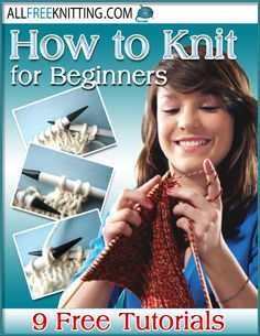 Learn how to #knit with this free eBook!  You'll find 9 free projects and tutorials to help get you started: http://bit.ly/nS8uFt