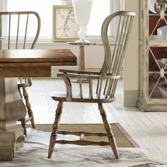 I LOVE THESE! Sanctuary Spindle Back Dining Arm Chair - Drift & Dune - Set of 2