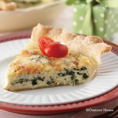 Gooseberry Patch Recipes: Spinach & Mozzarella Quiche from Gooseberry Patch Christmas, Book 15 Cookbook