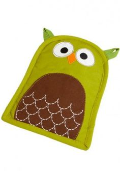 owl oven mitt