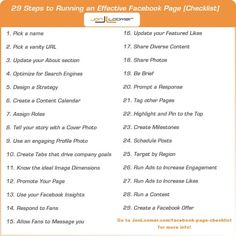 29 Steps to Running an Effective Facebook Page