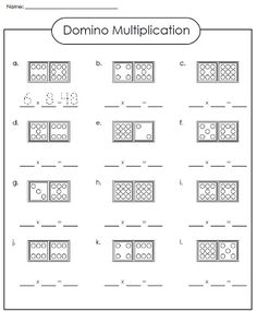 Check out our domino multiplication worksheet!