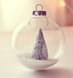 little snowy tree ornament