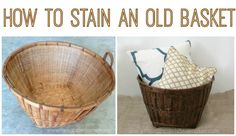 How to Stain a Basket and make it look gorgeous again!