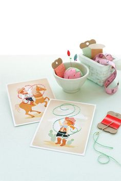 Sewing Cards Printables for Kids by oliviakanaley for Julep