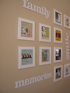 """scrapbook"" inspired wall frame display"