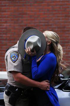 CHP engagement. San Francisco. California Highway Patrol. Alison & Grant, photo by: Samantha Gillis Photography