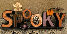 Silhouette Blog: Friday Feature :: 3d 'Spooky' Letters.  Inspiration to do this with wood letters maybe.  Totally cute.