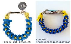 inspiration and realisation:  DIY Kenzo nut bracelet