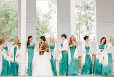 ♡ Green #Bridesmaids dresses - winter wedding ... For wedding ideas, plus how to organise an entire wedding, within any budget ... https://itunes.apple.com/us/app/the-gold-wedding-planner/id498112599?ls=1=8 ♥ THE GOLD WEDDING PLANNER iPhone App ♥  For more wedding inspiration http://pinterest.com/groomsandbrides/boards/ photo pinned with love & light, to help you plan your wedding easily ♡