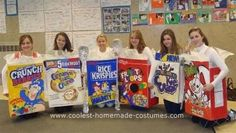Homemade Cereal Box Costumes