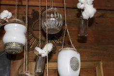 Southern Vintage wedding rentals - vintage globe lanterns- at Vinewood Weddings & Events - Fall rustic wedding