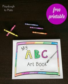 Free Printable ABC Book - Playdough To Plato