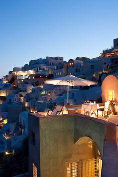 Romantic Oia by night, Santorini