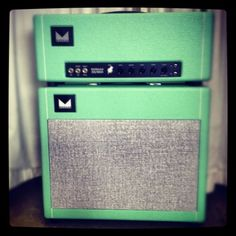 Morgan Amplification 30/800 Seafoam Green Head and Matching Cab $2495.00