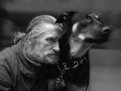 A man and his dog....beautiful