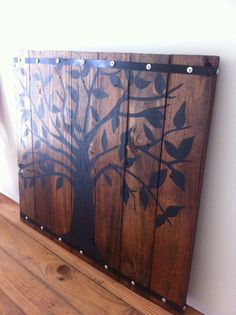 Rustic Wall Decor - Tree Painted on Reclaimed Wood on Etsy, $175.00
