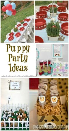 A Collection Of Puppy Party Ideas #Puppy #Birthday www.momsandmunchkins.ca