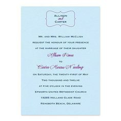 Allison Wedding Invitations