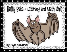 "This unit includes a variety of activities about bats both fiction (Stellaluna) and nonfiction.  A few examples are:  Inferring ""Bat"" Riddle,  ""Who am I""? & ""It's a Mystery""  3 Bat Poems for Fluency,  6 Bat Fact Cards,  Label Me,  Bat Brainstorm and Adjective Maps,  Bat (Have, Eat, Live),  Bat - Part to Whole,  3 Graphing Activities,  10 Math Problem Solving Sheets,  Story Retelling for Stellaluna including:  Beginning, Middle & End  and Story Elements"