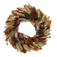 "Pomegranate Harvest Autumn Wreath By Floral Treasure 18"" by Floral Treasure, http://www.amazon.com/dp/B00F3HXZOS/ref=cm_sw_r_pi_dp_ygXmsb0QV7DC1"