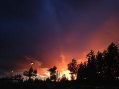 Sunset in Sandy Oregon