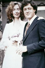 Hillary and Bill on their wedding day