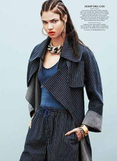 visual optimism; fashion editorials, shows, campaigns & more!: jean streets: daniela braga by aingeru zorita for us marie claire november 20...