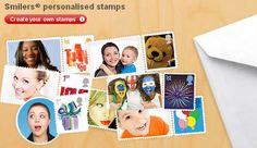 Smilers - personalised stamps - Create your own stamps