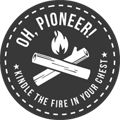 """Oh, Pioneer!"" tumblr - the wild and wonderful outdoors logo"
