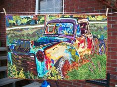 Rusty old car - Media - Quilting Daily
