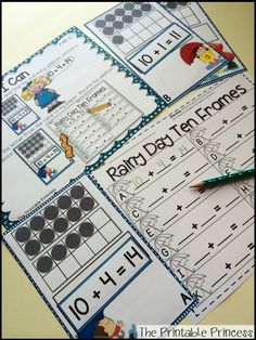 a HUGE collection of literacy and math centers... perfect for spring-time in Kindergarten.