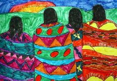 Artsonia Art Museum :: Artwork by Dan106  Native American Blanket designs