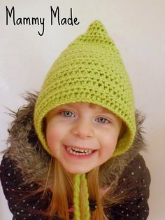 crochet hat patterns, hat child, pixi hat, crochet hats, pattern child, crochet free patterns, children, child size, crochet patterns