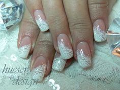 Diagonal French Manicure