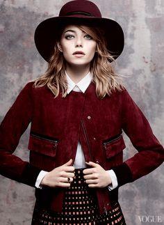 Emma Stone, Vogue, May 2014