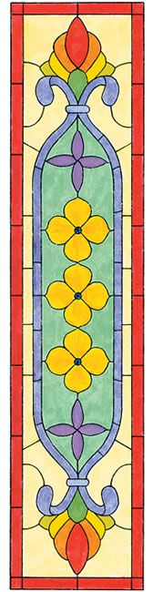 Dover publications (stained glass pattern)....would be a nice table runner