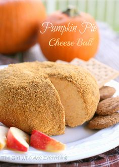 Pumpkin Pie Ball - serve with gingersnaps, graham crackers, and apple slices.