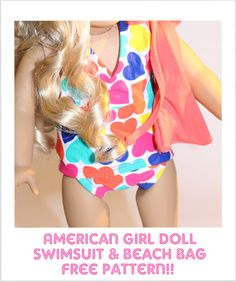 {FREE} American Girl Swimsuit & Beach Bag Pattern - All Things With Purpose