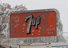 Neon 7up Sign, Merced, CA