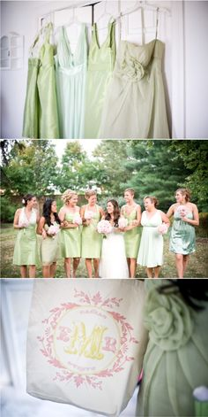 pink & green wedding