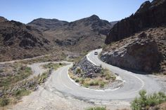 Hairpin bends on Route 66 near Oatman, Arizona. People from all over the area are objecting to plans for biofuels company Sun West to build a solar plant. Some say this will spoil their views