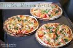 Taco Bell Mexican Pizzas - less than 400 calories per pizza!