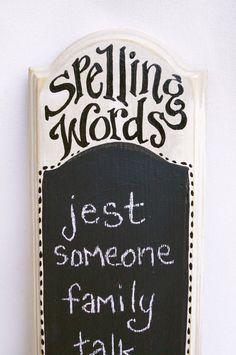 chalkboards, homeschool rooms, crafti kid, kid homeschool room, homeschooling room ideas, school kids, homeschool adventur, ideas homeschool, spelling words