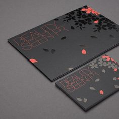 Love the color combo on the identity for Beauty Seen PR    via Lovely Stationery